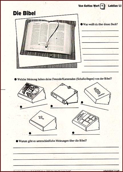 Schön Bibel Arbeitsblätter Für Kinder Fotos - Arbeitsblätter für ...